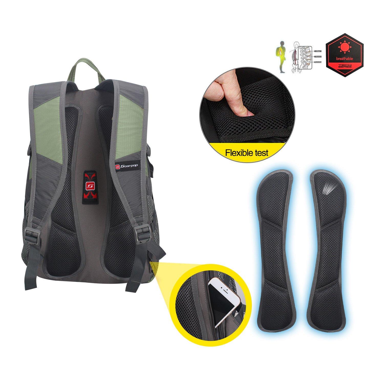 Soarpop mochila resistente al agua al aire libre ligera para viaje Camping Senderismo correr ciclismo: Amazon.es: Deportes y aire libre