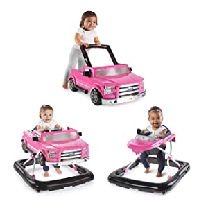 Bright Starts 3 Ways to Play Walker - Ford F-150, Pink, Ages 6 months +