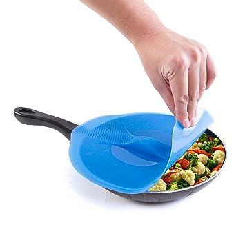 Cocina + casa 11,5 pulgadas tapa de silicona cubierta para ollas, sartenes,