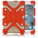 Universal 7.9-9.0 inch Tablet PC Case, Dteck(TM) Drop Proof Rugged Case Kickstand Portable [Reinforced Corners] Adjustable Body Back Cover for All 7.9-9.0 inch Apple iPad Samsung Tablets (01 Orange)