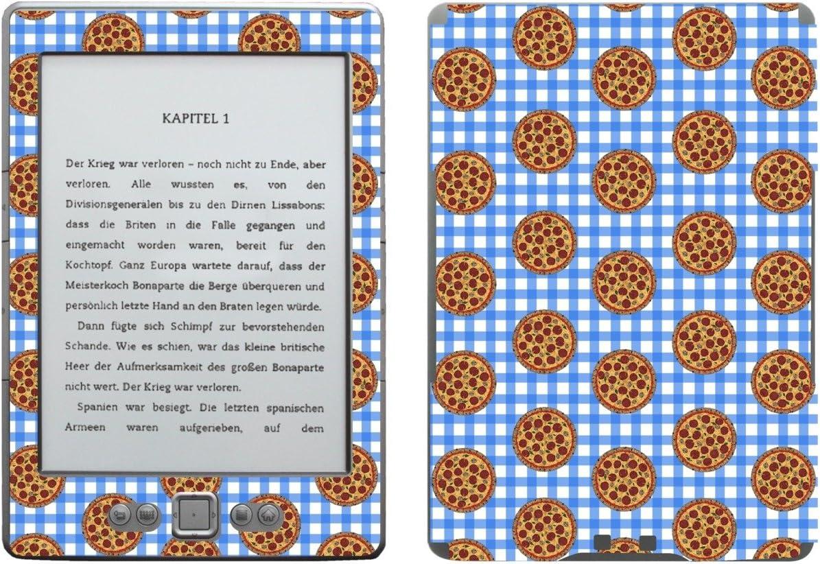 Disagu SF de 103567 _ 901 Diseño Protector de Pantalla para Amazon Kindle 4 eReader Diseño de Pizza Cuadros, Color Azul Transparente: Amazon.es: Informática