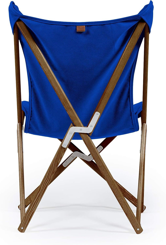 Made in Italy Sedia Tripolina Telami Mobili da Esterno Legno Tinto Naturale Alta qualit/à Collezione Mediterraneo Violet Pieghevole e Leggera Legno Massello di Faggio -69x 106x83 cm