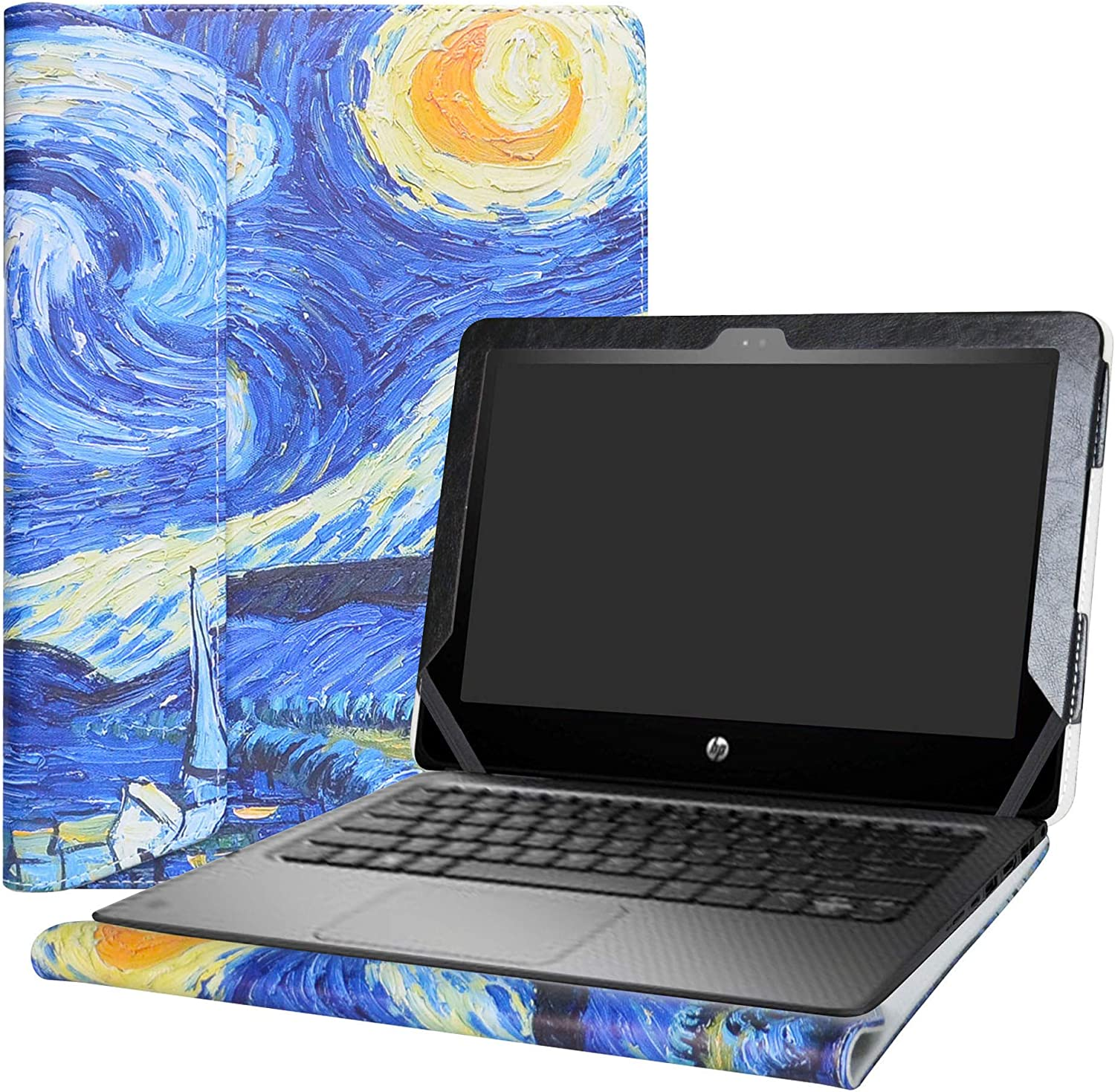 """Alapmk Protective Case Cover For 11.6"""" HP ProBook x360 11 G1 EE / G2 EE /G3 EE / G4 EE Series Laptop(Warning:Not fit HP other 11.6 inch Laptop),Starry Night"""