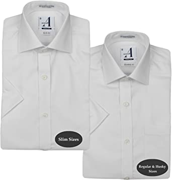 Alviso Boys White Long Sleeve Dress Shirt
