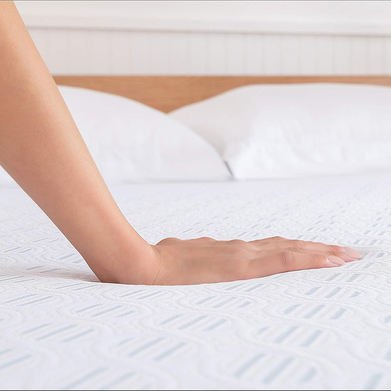 Amazon Com Sleep Innovations Shiloh 14 Inch Memory Foam Mattress King White Home Kitchen