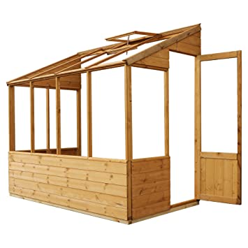 4x8 Wooden Lean-To Greenhouse Growhouse Shiplap T&G Styrene