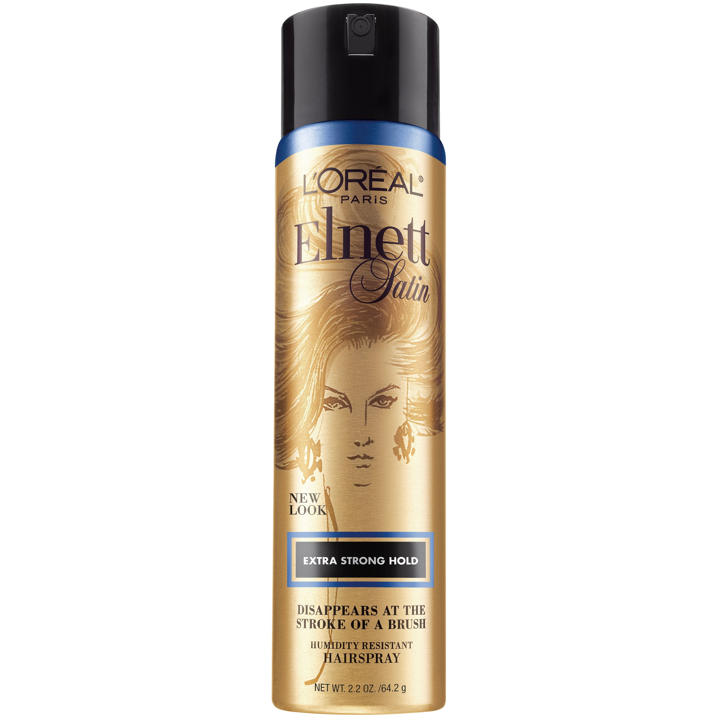 L'Oreal Paris Elnett Satin Hairspray, Extra Strong Hold, Travel Size, 2.2 oz. (Packaging May Vary)