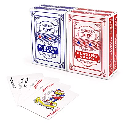 PGXT Playing Cards, 4 Decks (2 Red/2 Blue) Poke...