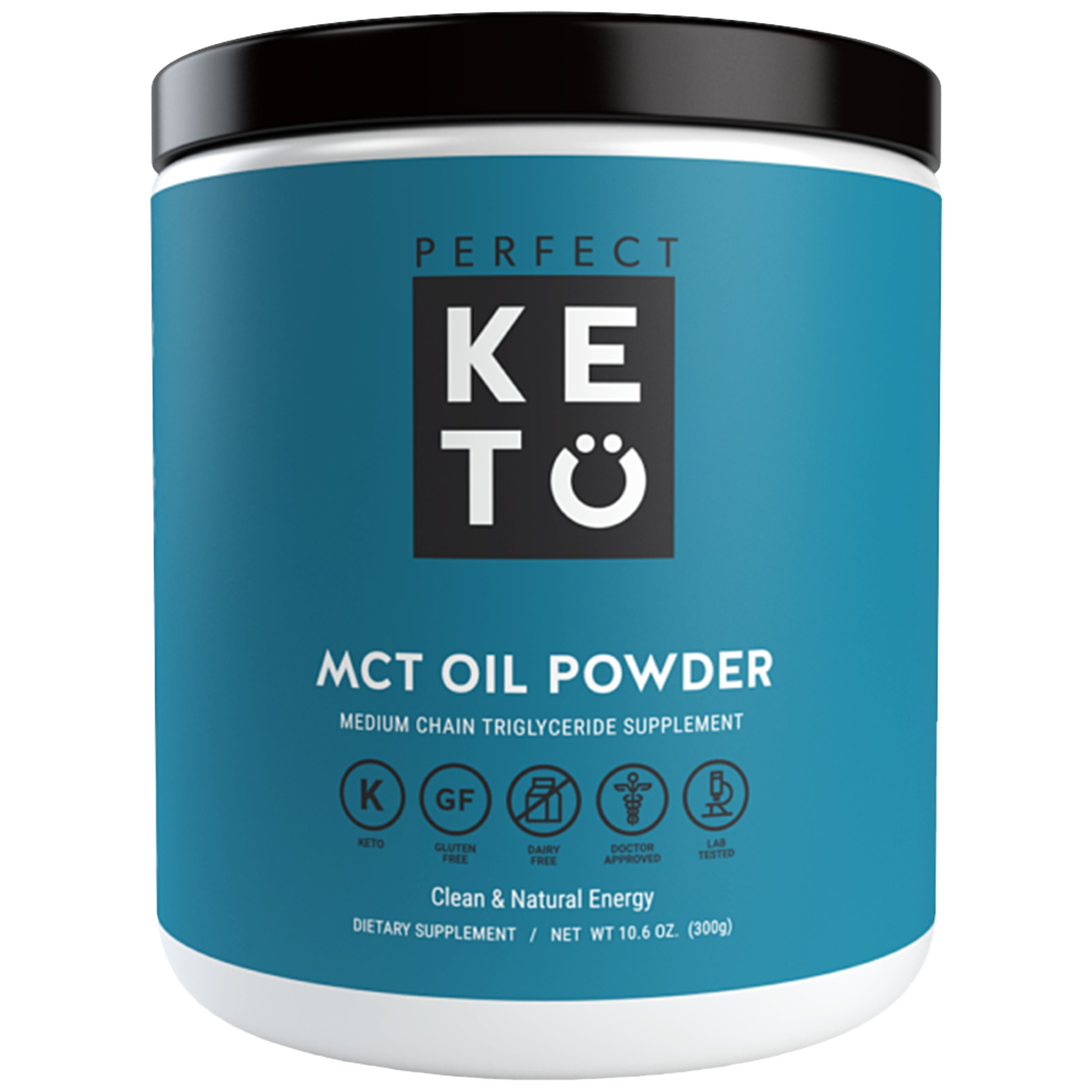 Perfect Keto MCT Oil Powder - Medium Chain Triglycerides from Coconuts For Ketosis & Ketone Energy Supplement on Ketogenic Diet - Easy to Absorb & Digest in Smoothies & Shakes or Keto Coffee Creamer