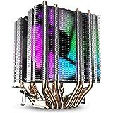 DarkFlash L6 CPU エアクーラー 6 ヒートパイプ ツインタワー ヒートシンク 90mm レインボー LED ファン