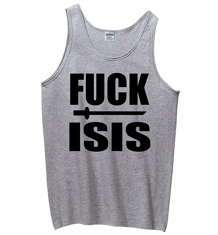 Anti Terrorism Political Shirt Tank Top Comical Shirt Mens Fuck Isis Anti Isis