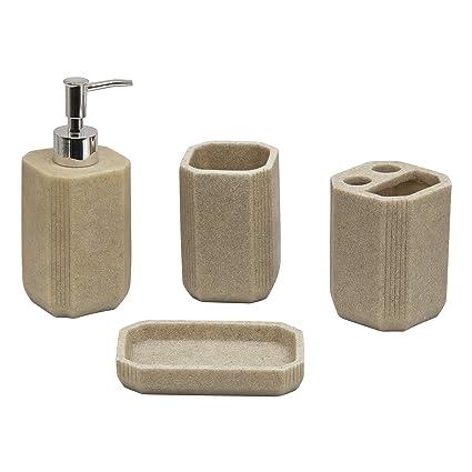 Juego de accesorios para baño de 4 piezas  Dispensador de Loción ... e75175186c2f