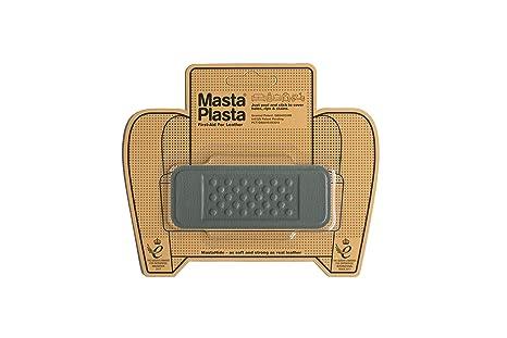 MastaPlasta - Parches de reparación de Piel autoadhesivos, Color Gris Elige tamaño/diseño. Primeros Auxilios para sofás, Asientos de Coche, Bolsos, ...