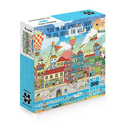 Re-Marks Harbor City 300 Large Piece Puzzle: Toys & Games