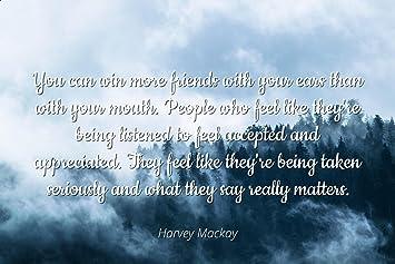 Amazoncom Harvey Mackay Famous Quotes Laminated Poster Print
