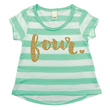 ca539f7db Image Unavailable. Image not available for. Color: Girl Fourth Birthday  Shirt ...