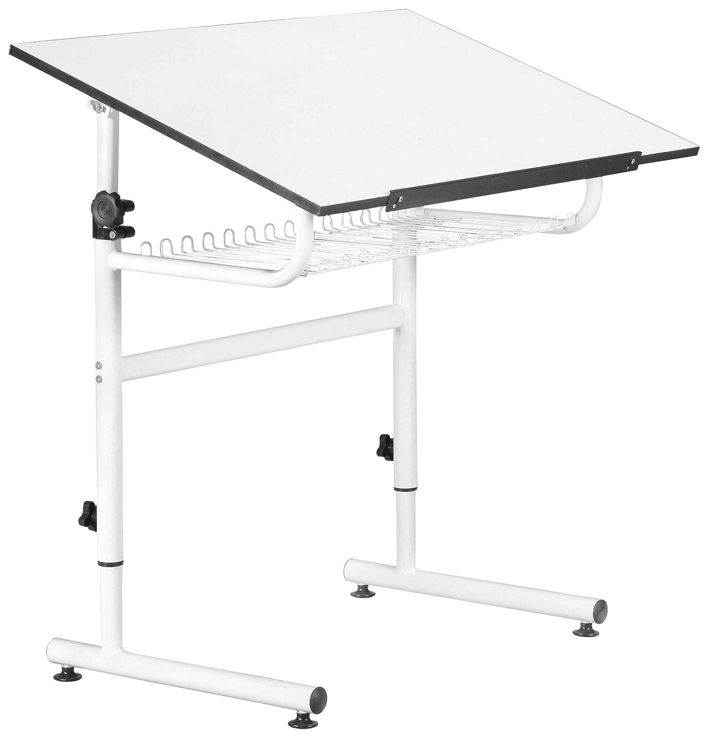Martin Universal Design U-DS1696 Gallery Art Table, White by Martin Universal Design