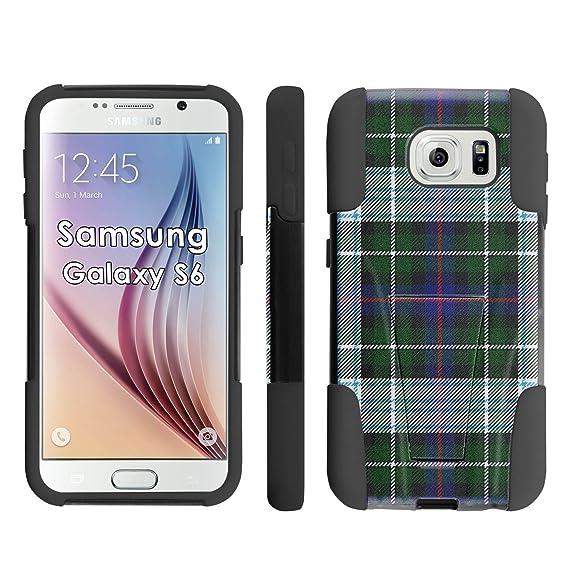 newest be2ea aac9c Amazon.com: Samsung Galaxy S6 Phone Cover, Irish Kilt Plaid - Black ...