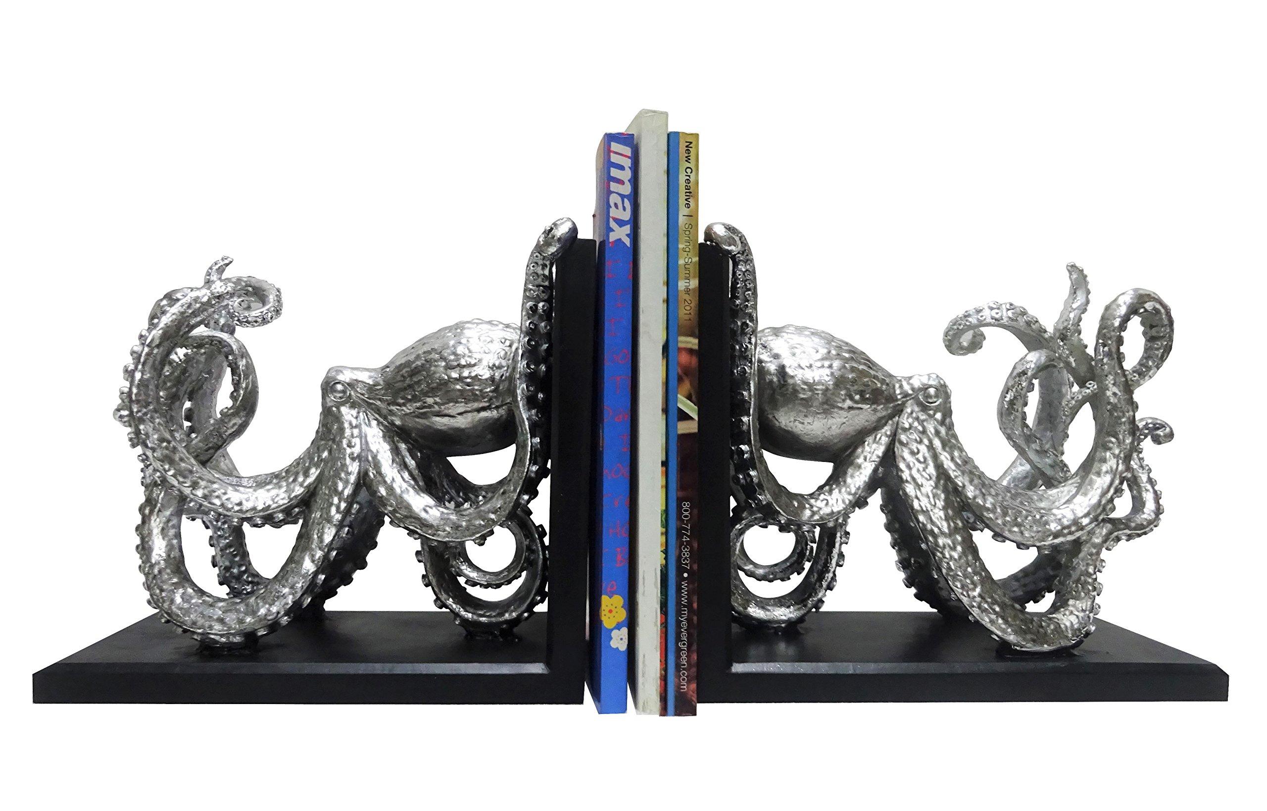 Clint Eagar Octopus Figurine Bookends, 2 of 11'' x 5-3/4'' x 9''
