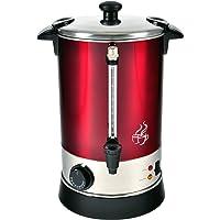 efbe-Schott Heißgetränkeautomat für Kaffee, Tee und Glühwein, 6,8 l Fassungsvermögen, 950 W, Edelstahl, Metallic-Rot/Silber, SC GW 900, Metall, Kunststoff, 6.8 liters