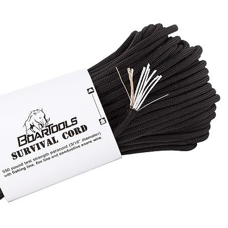 Amazon.com : 100\' Survival Cord Paracord bundle by Boar Tools ...