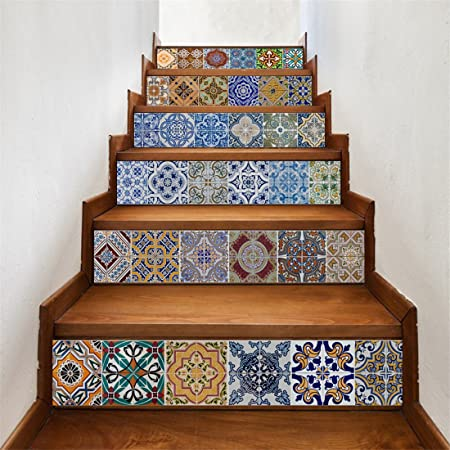 Gwell Stair Wall Stickers Home Decoration Removable Self Adhesive
