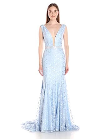 Jovani Women\'s Powder Blue Lace Prom Dress at Amazon Women\'s ...