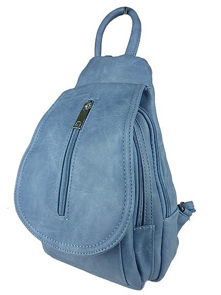 bags & more 2947-BB - Mochila casual de Otra Piel Mujer, color Azul
