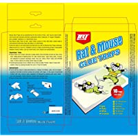 TRT TOOLS Large Rat & Mouse Glue Traps - Pack of 10 Peanut Butter Scented Indoor Outdoor Sticky Pest Traps for Ants…