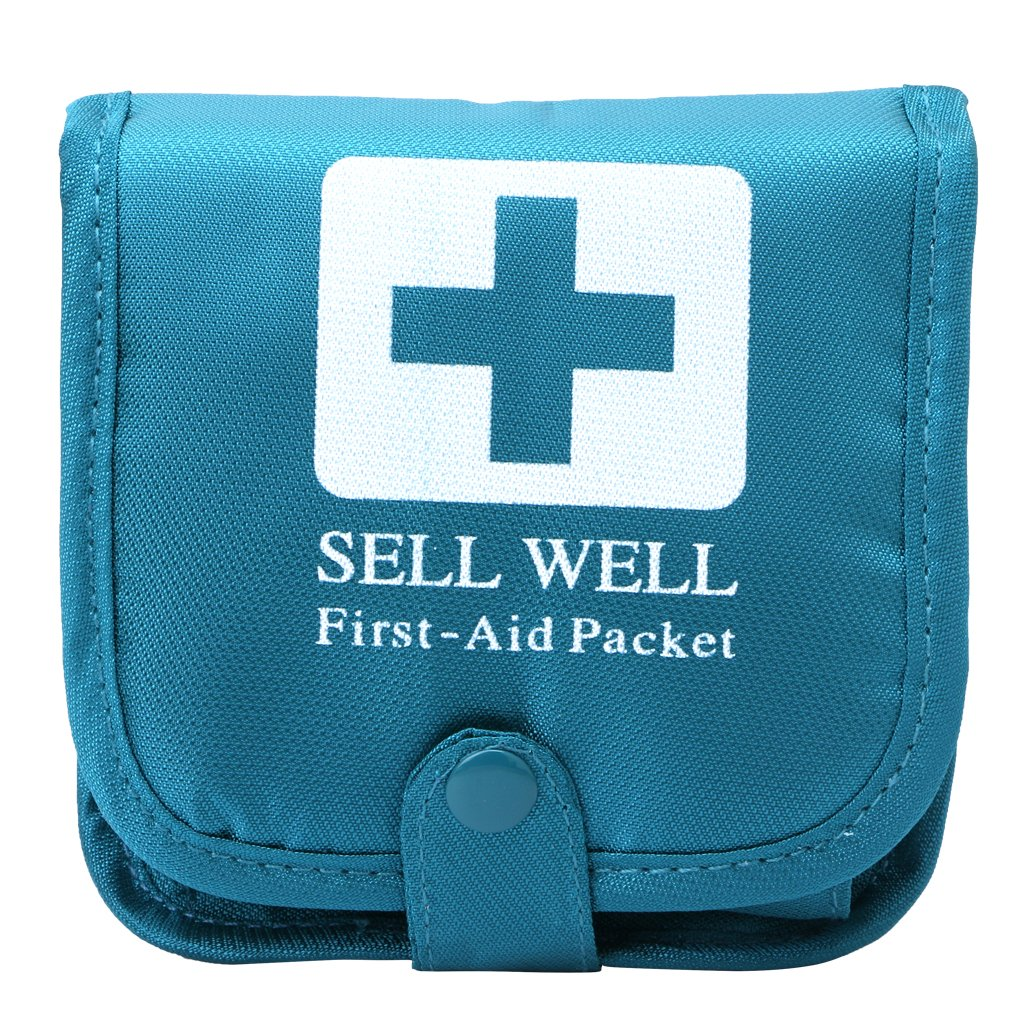 Shoresu Outdoor Camping Home Survival Portable First Aid Bag Medicine Pill Box Case Blue