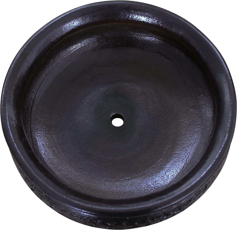Plant Bowl Flat 50 x 18 cm Dark Brown Matt Frost Resistant K/&K Keramik Watzmann XL Bonsai Pot