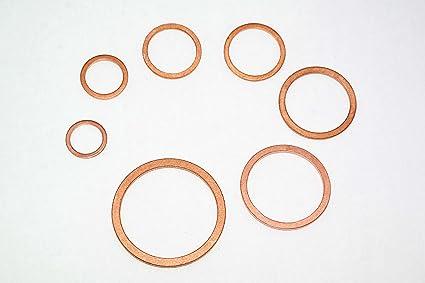 Unterlegscheibe aus Kupfer 6x10x1 mm 50 Stück