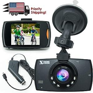 XtremeVision 1080P HD Night Vision Car DVR Dash Cam w/Loop Recorder   G-Sensor