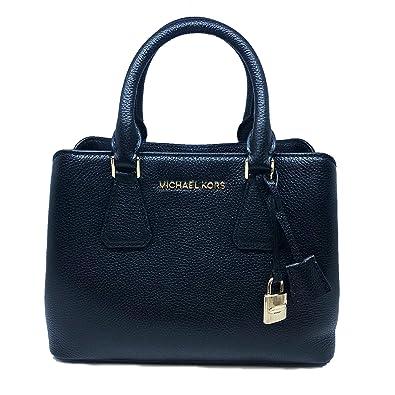 74771fecc98e88 Amazon.com: Michael Kors Camille SM Satchel Leather Black (35S8GCAS1L):  Shoes