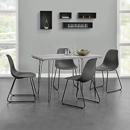 en.casa]® Tavolo da pranzo design per 4 persone - Effetto ...