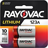 Rayovac 123A Lithium Batteries, 3V Lithium Photo Batteries (2 Battery Count)