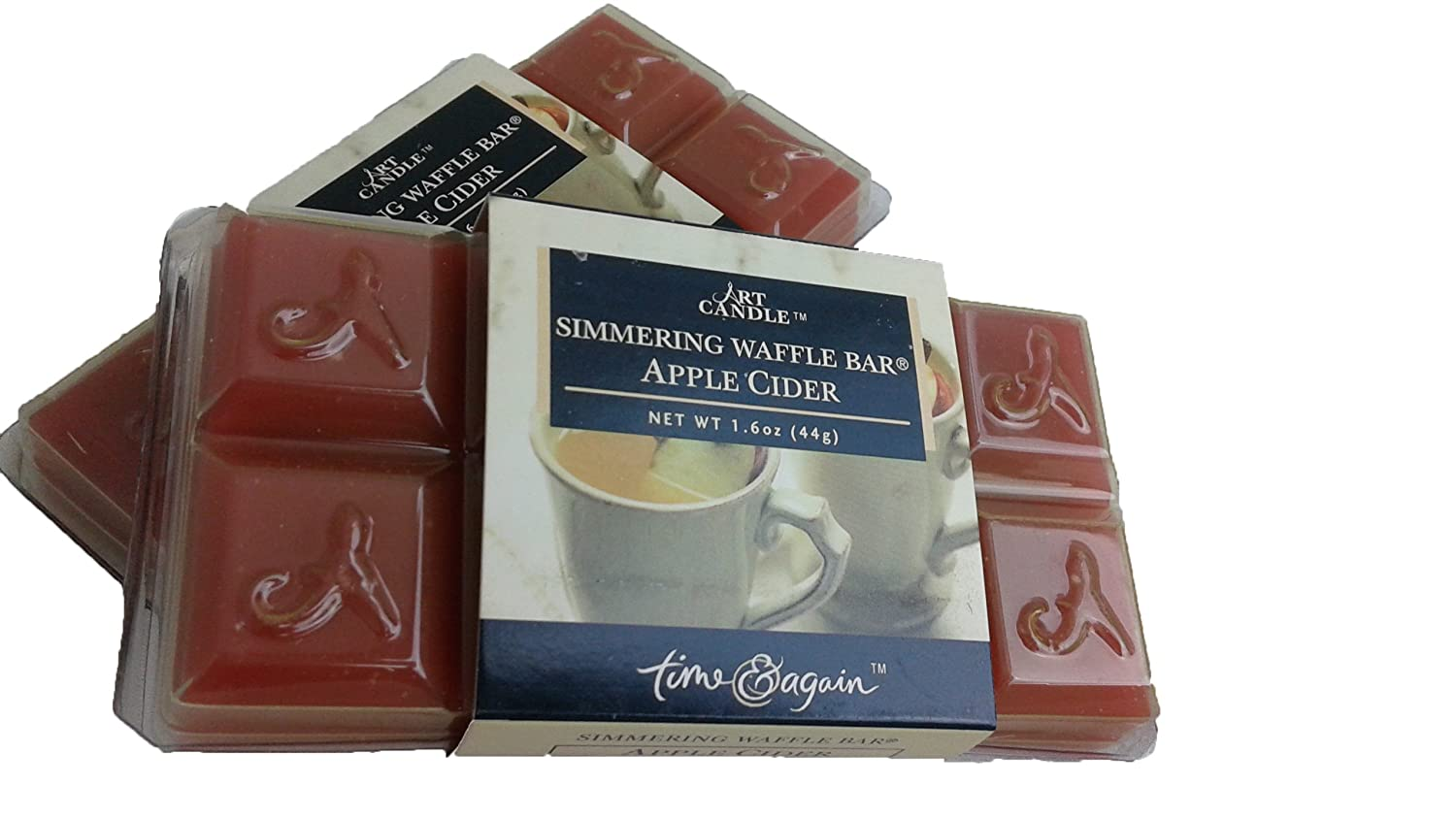 Time and Again Simmering Waffle Bar Candle | Apple Cider Scent | 2 Pack