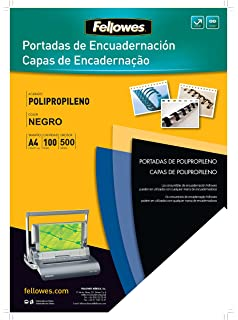Fellowes Portadas para encuadernar de PVC transparente, formato A4, 180 micras, pack de 100: Amazon.es: Oficina y papelería