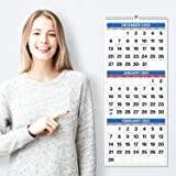 """Dunwell 3-Month Wall Vertical Calendar - (11x26"""" Open), Use Now in 2020 to December 2021, 3-Month Display, 2020-2021 Three Mo"""