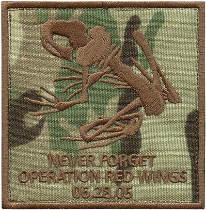 2AFTER1 Multicam Operation Red Wings Never Forget Lone Survivor SDVT-1A Skull Frog Navy Seals Fastener Patch