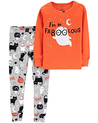 5dbfaec13 Amazon.com  Carter s Girls  2-Piece Snug Fit Cotton Halloween PJs ...