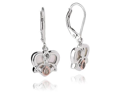 387d71cb79d7f Clogau Dwynwen Mother of Pearl Drop Earrings: Amazon.co.uk: Jewellery