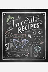 Deluxe Recipe Binder - Favorite Recipes (Chalkboard) Hardcover
