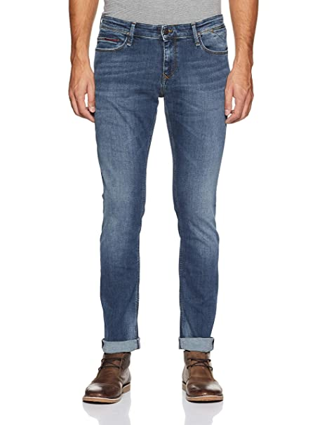 cd34b5ef5f938a TOMMY HILFIGER Men s Skinny Fit Jeans (P8ATD12032 Vermont Mid Blue  Stretch 32W x ...