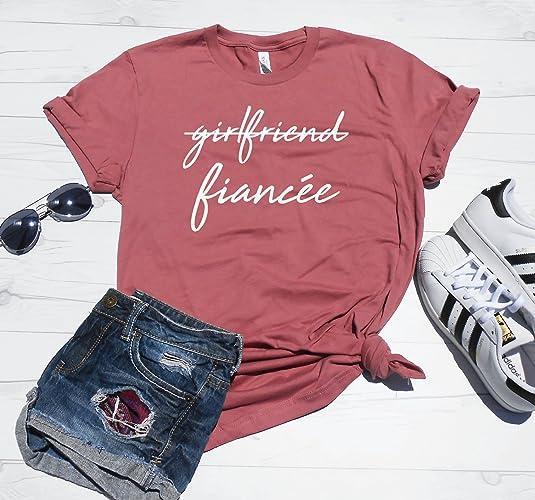 119bd5a4 Girlfriend Fiancee T-Shirt, Fiancee Shirt, Fiance Shirt, Mauve Wedding Shirt,  Bachelorette Shirt, Engagement Gift, Engaged Shirt, Just Engaged, Unisex Tee,  ...
