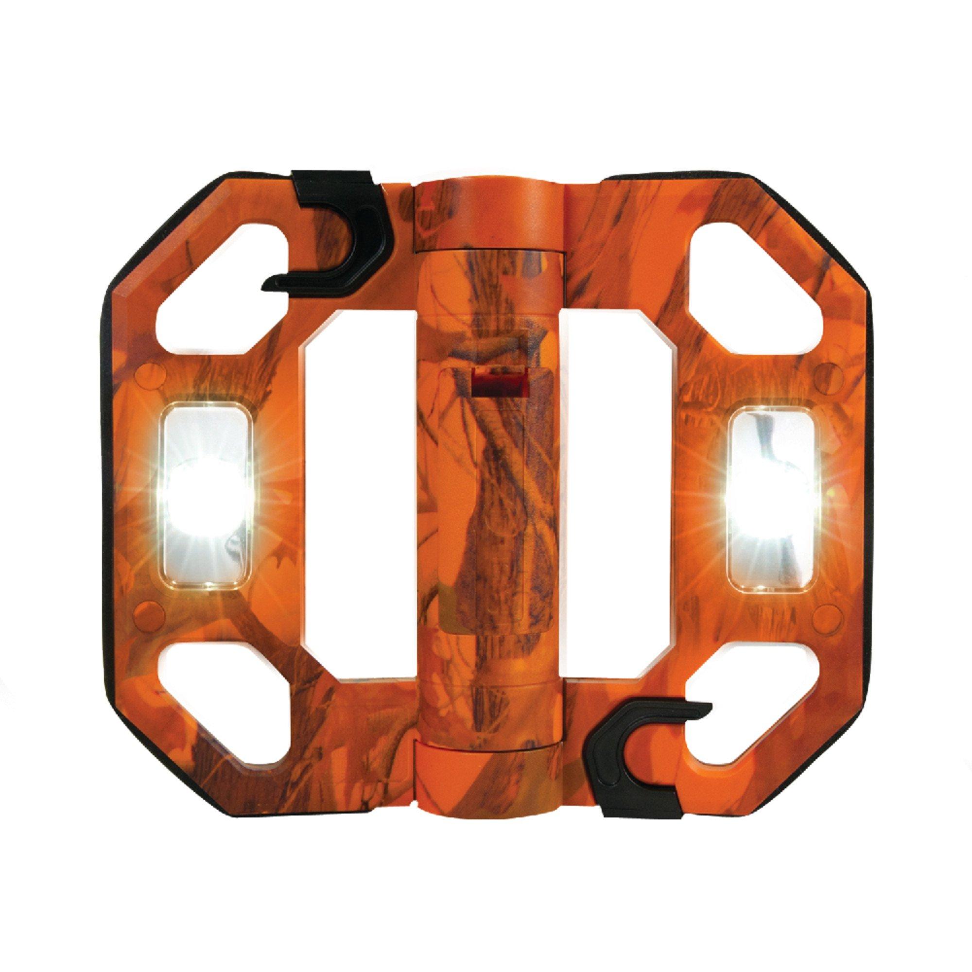 All-Pro LED125O 200-Lumen Mini Compact Folding LED Work Light, Orange
