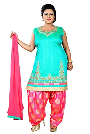 94887f55f45 PLUS SIZE INDIAN READYMADE SUITS FOR WOMEN LADIES PATIALA SALWAR SUIT  INDIAN PAKISTANI PARTY WEAR SUIT KAMEEZ WOMAN BIG SIZE CLOTHING BOLLYWOOD  SUIT DRESS ...