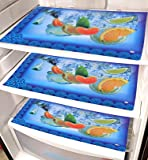 Kuber Industries Laminated 6 Pieces Reversible Fridge Drawer Mats (Multi) -CTKTC7061