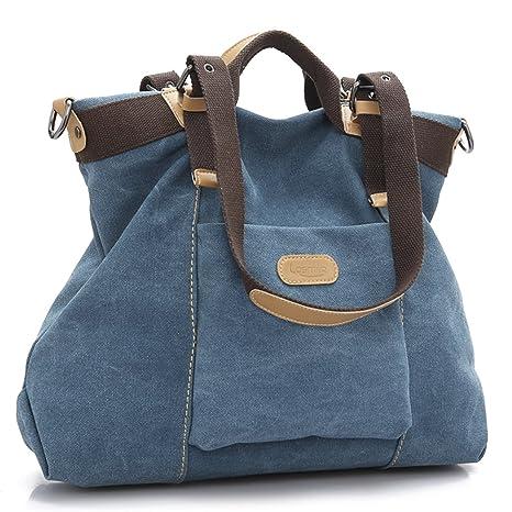 60e5c35733d LOSMILE Bolsos de mano para mujer, Bolso de Bandolera Totes Shopper Viajar  Hobo de Lona