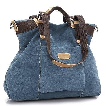 0ce8812521f Women s handbag,LOSMILE Canvas large Totes Shoulder Bag Hobo Bags.(Blue)